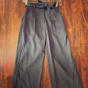 Ivy Wide Leg Pant in Faded Black (Looks Navy)